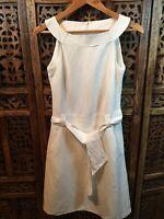 Sticky Fingers Ivory Sleeveless  Linen Dress Size 8