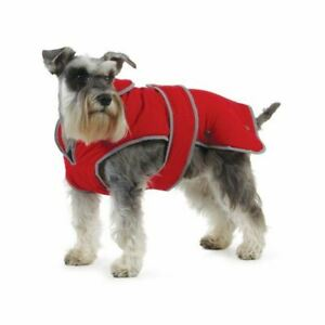 Ancol Muddy Paws Stormguard Fleece Lined Coat and Chest Protector, Red, X-Small.