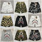 Unisex Shorts Japan Bape Shark Jaw Icon Pattern A bathing ape dark in glow Pants