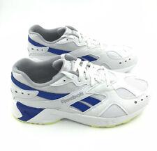 REEBOK MENS Shoes Aztrek Size US 9 | White Cold Grey Cobalt Lime