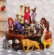 12pcs Ice Age 5 Sid Eddie Ellie Scrat Manny Diego Brooke Figure toy cake topper