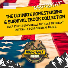 Ultimate Survival 9500+ Ebook Collection! Homesteading Defense Survival NO FLUFF