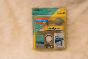 SONY Handycam CAMCORDER ACCESSORY KIT ACC-1 VIDEO 8 V8-25CL Cleaning NP-55 VTG