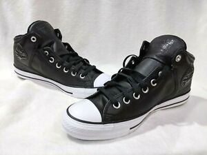 Converse Men's CT High Street Black/White Hi-Top Leather Sneakers-Asst Sizes NWB
