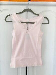 BNWT Spank Pink Cami Top With Lace Trim, Sz S