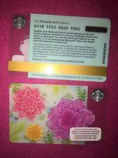 Spring Flowers Selfie 2015 Starbucks Card GB UK Coffee Card - 6118