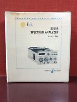 HP 8559A Spectrum Analyzer 0.01—21GHz Operating and Service Manual #2343