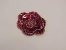 Rojo oscuro de joyas lentejuelas Floral Rosa Encaje Con Apliques / Lace Motif vendidos por por un.