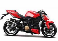 MAISTO 1:18 DUCATI mod. Streetfighter S MOTORCYCLE BIKE DIECAST MODEL NEW IN BOX
