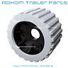 "x12 BOAT TRAILER WOBBLE ROLLERS. 3"" GREY RIBBED 18-22mm Bore. Soft Wobble Roller"