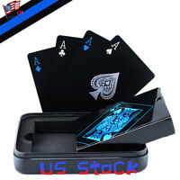 Poker Waterproof Gift Matel Case Durable Plastic PVC Playing Cards Table Game US