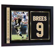 Drew Brees New Orleans Saints NFL signed autograph photo print Framed