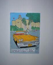 Cuba Street Car 1950/'s Ford  A3 A4 Original Poster Print