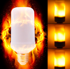 LED Flame Effect Simulated Nature Fire Light Bulb E26/E27 7W Decoration Lamp