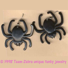 Funky Gothic BLACK WIDOW SPIDER EARRINGS Punk Wicked Witch Queen Costume Jewelry
