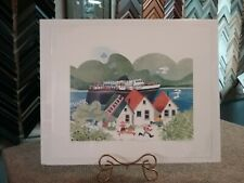 "1995 Hand-Signed & Numbered Limited Edition ""FERRY ARRIVING, TENAKEE"" Rie Munoz"
