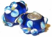 Perle für Sammelarmband. Bead.  Charm. Muranoglas mit 925er Sterling Silber.