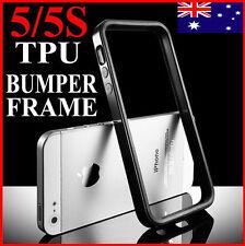 Soft TPU Bumper Frame Case Cover For iPhone 5 5S 5G(BLACK,HQ Slim Rubber Skin)