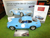 ASTON MARTIN DB4 GT ZAGATO COMPETITION 1961 bleu 1/18 CMC M140 voiture miniature