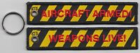 RAF Royal Air Force Weapons Live Embroidered Key Ring / Pull Cord