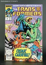 TRANSFORMERS #44 1988 Marvel Comic US G1 Sky Lynx Optimus Prime Cosmic Carnival