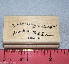 Stampin Up Curvy Verses Stamp I'm here for you always please know that I care