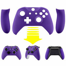 Soft Touch Purple Faceplate Top Shell w/ Side Rails For Xbox One S X Controller
