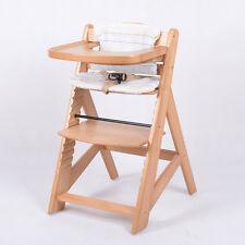 Chaise Haute en bois Ajustable Chaise bébé Escalier chaise haute NATURE