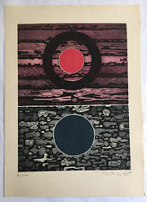 """Gabor Peterdi - """"SUN AND AFTER"""" - Etching from deluxe edition of """"A Genesis"""""""