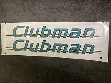 CLUBMAN Caravan Motorhome Stickers - PAIR - PRINTED STICKER - FREE POSTAGE