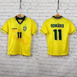 Football shirt soccer Brazil Brasil Home 1994/1995/1996 Umbro Kid's Romario #11