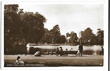 Wolverhampton, West Park Lake RP PPC, Unposted no 4, Shows Conservatory