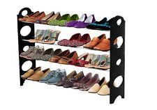ForHauz Shoe Organizer 20 Pair Shelf Storage Rack for Closet or Entryway Black