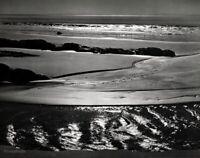 1938/63 ANSEL ADAMS Vintage Refugio Beach Pacific California Photo Art 11x14