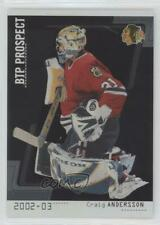 2002-03 ITG Be A Player Between the Pipes /100 Craig Anderson #90 Rookie