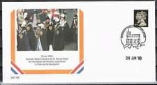 Envelop Royalty OSE-108 - 1990 Beatrix wordt krijgt de Orde van de Kouseband