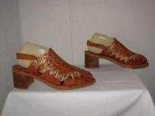 PIKOLINOS Chaussures / Sandales P.41 cuir marron beige ajouré