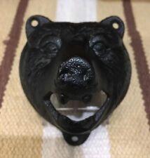 Bear Bottle Opener Cast Iron Car Gas Oil Garage Bar Pub Home Decor Man Cave Hunt