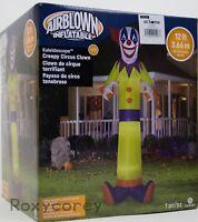 Halloween Gemmy 12 ft Kaleidoscope Creepy Circus Clown Airblown Inflatable NIB