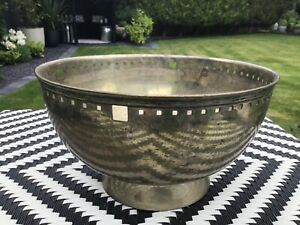 Secessionist jugendstil designed large silver plated bowl. Unsigned.