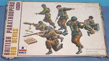 Vintage 2nd guerre mondiale Rouge Devils britannique Paratroopers 1/35 ESCI