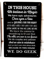Esta Casa de HACEMOS Geek CÓMIC frase Letrero A4 Letrero Metal