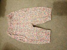 Jojo Maman Bebe 3-6 Months Jersey Trousers Summer Ditsy