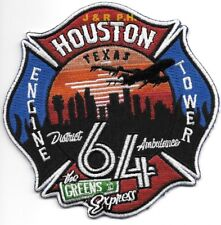 "*NEW*  Houston Station - 64  ""The Green's Rd Express"",  (4.5"" x 4.5"") fire patch"