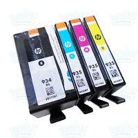 4pk Genuine HP 934XL HY Black & 935XL HY Color Ink OfficeJet 6815 6820 6835 6830