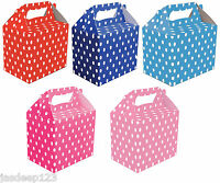 10 Childrens Polka Dot Party Lunch Boxes Takeaway Boxes Birthday Wedding Food