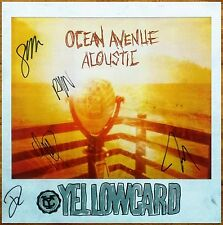 YELLOWCARD Ocean Avenue Acoustic Ltd Ed Signed By All 5 Members RARE Poster