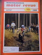 Tschechoslowakische MOTOR REVUE Nr. 10 - 1988 Jawa 125 Enduro Salon Turin Barum