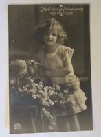 """Geburtstag, Kinder, Blumen, Korb"" 1918 ♥"