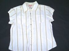 Girls Large GUESS Western Shirt Top Button Down Pearlized Snap Buttons